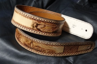 Hand Carved and Tooled Design by C.T. Strickland Jr.