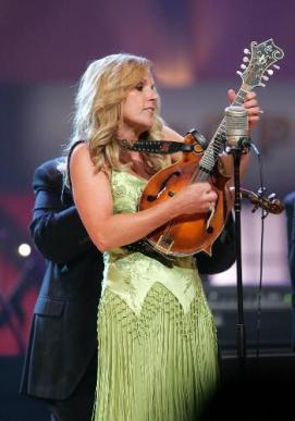 Rhonda Vincent and her Star Strap, of Black Suede and Swarovski Crystals