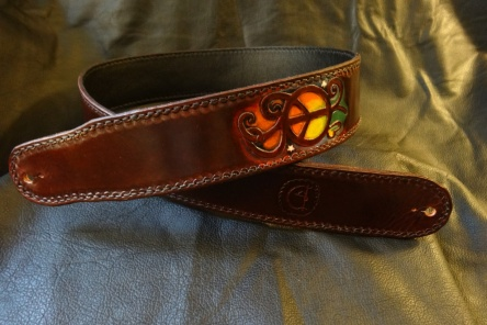 Handcrafted Standard CT Artisan Guitar Strap with Design Upgrades