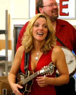 Rhonda Vincent with her Custom Mandolin Strap