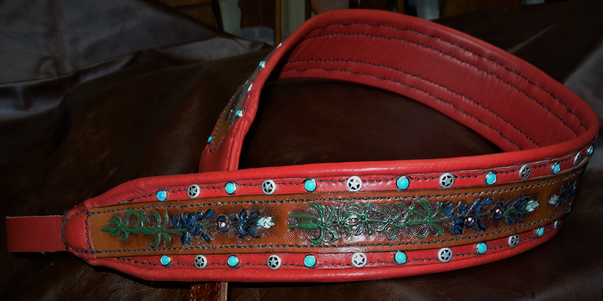 Custom Mandolin Inlay Style Strap